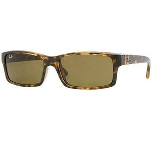 Ray-Ban Rectangular Sunglasses W/Brown Lens